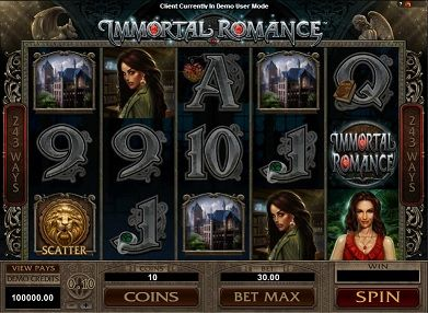 slot machine gratis immortal romance