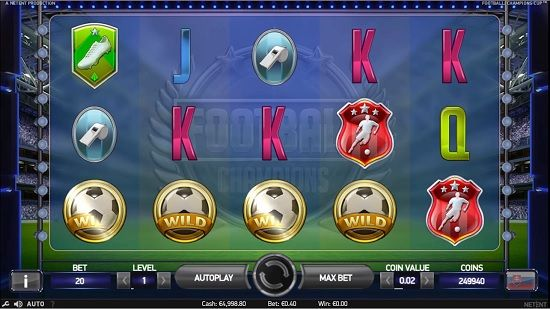 online casino cash football champions cup