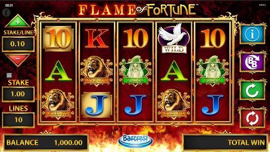 flame of fortune slot screenshot big