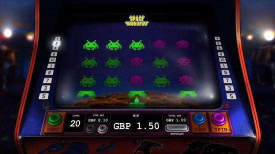 Space invaders slot screenshot big