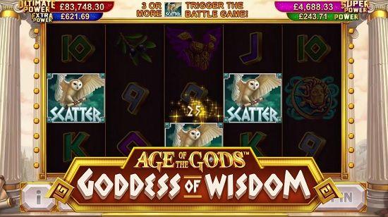 Age of The Gods™ Goddess Of Wisdom Slot screenshot big