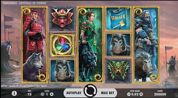 Warlords Crystals of Power slot screenshot big