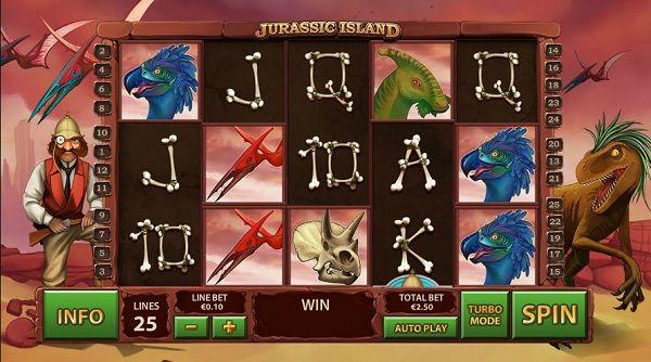 jurassic island slot screenshot big